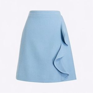 NWT J. Crew ruffle front mini - 12 - Blue pond